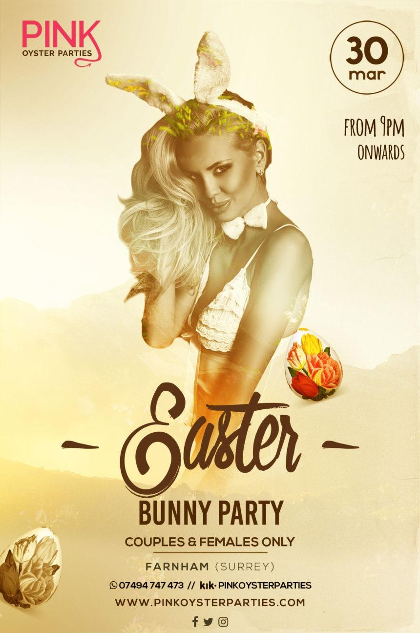 Pink oyster presents our Easter Bunny party